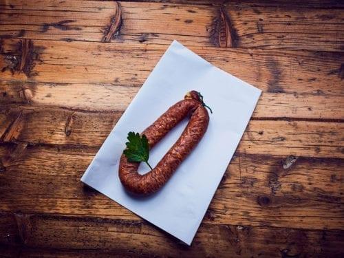 Landjäger-Wurst im Bio-Fleisch Shop von Hof Eggers Hamburg