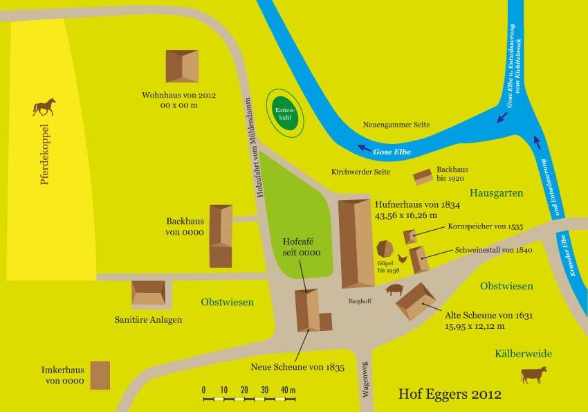 Hof Eggers - Hofplan