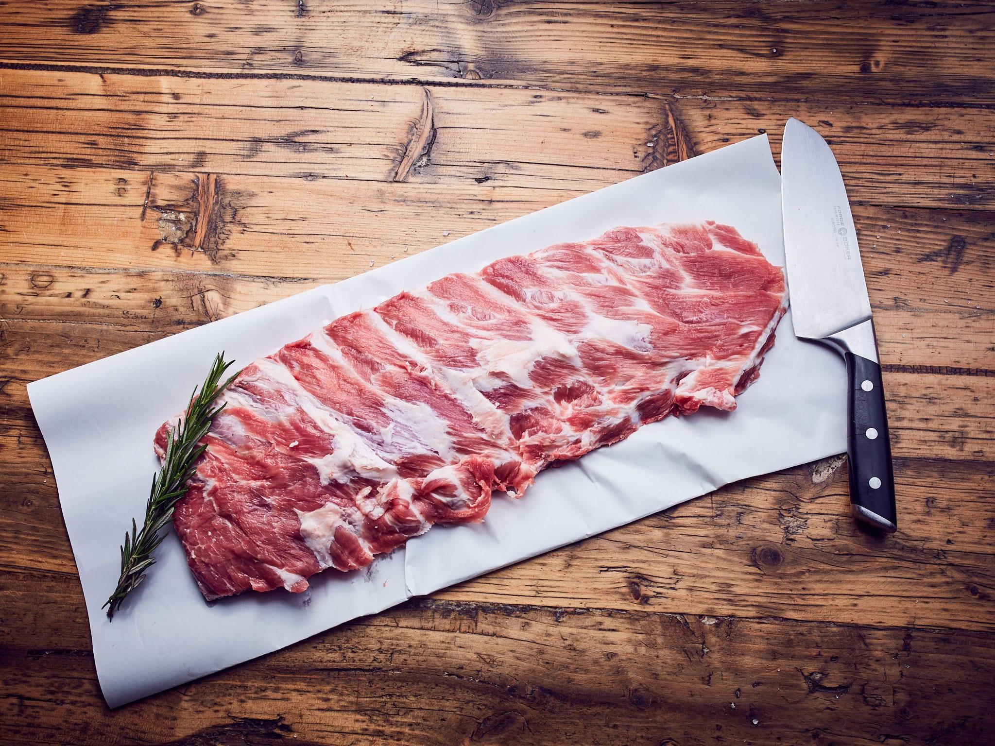Spareribs Schwein - Bio Fleisch Shop Hamburg - Hof Eggers